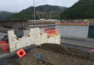 Haywards Interchange Wellington NZ Reinforced Earth® bridge abutments