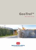 GeoTrel™ Reinforced Earth® structures using wire mesh facing with geosynthetic reinforcing strips.