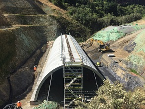 Transmission Gully New Zealand TechSpan® Arch Structure